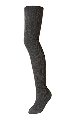 Zukie Girls Tights for Children & Teens, Warm Winter Leggings, Perfect for School Uniforms, Large (12-14 Years), Charcoal