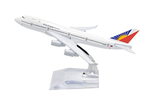 TANG DYNASTY(TM) 1:400 16cm Boeing B747-400 Philippine Airlines Metal Airplane Model Plane Toy Plane Model (Philippine Airlines)