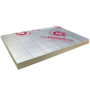 Ecotherm Ecoversal Foil Insulation **MINIMUM ORDER 17 SHEETS FOR DELIVERY** PRICE IS PER SHEET** 2400 x 1200 x 25mm Celotex TB4025 Kingspan TP10 TF70