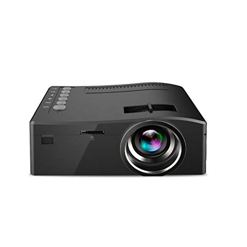 QTT Mini Projector, Mini Remote Micro Projector Portable Home LED Projector (Black) from QTT