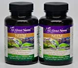 Neem Leaf Capsules (2 bottle set) Organic, All Natural, Pure, Vegetarian 120 Capsules – 1,500mg Triple Strength – Natural Body Detox Cleanse Energy – Made in USA ** FREE GIFT Review