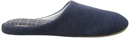 Blu Chaussons blue Bleu Marl Homme Isotoner Slippers Mens Mule Pattern 7pxwqnI1z