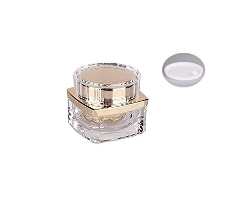 1Pcs 20Gram Empty Refillable Upscale Acrylic Cosmetic Containers Jars Pot Storage For Cream Lotion Eye Shadow Nails Powder Jewelry Sample Sample Packing Bottles With Inner Liner (Golden)