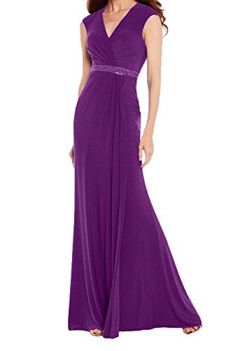 Charmant Festlichkleider Abschlussballkleider Royal Lang Chiffon Violett Damen Etuikleider Promkleider Blau Abendkleider 88q4prw
