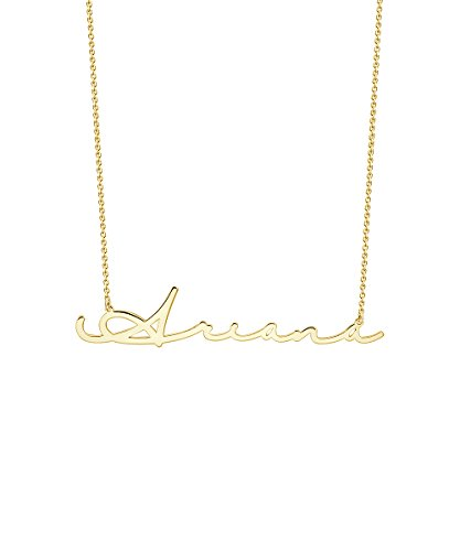 Custom4U Personalized Name Necklace Custom Made Pendant Jewelry Gift for Women,18K Gold Plated