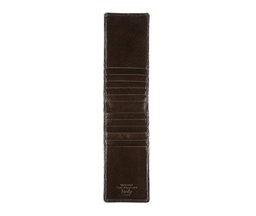 WITTCHEN Fall | 13.5x6.5 cm | Narbenleder, Braun | Handmade, Kollektion: Italy - 21-2-170-4