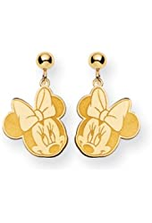 Disney's Flirty Minnie Mouse, Post Earrings in 14 Karat Gold
