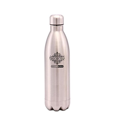 IndianArtVilla Vaccum Insulated Steel Water Bottle Thermos