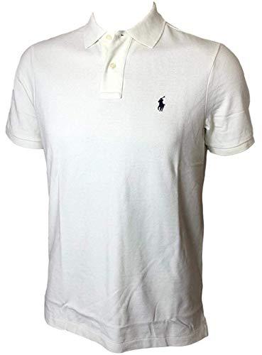 (Polo Ralph Lauren Classic Fit Mesh Pony Logo Polo Shirt (S, ChicCream))
