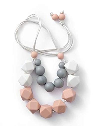 Mini-me Long Teething Necklace, 100% BPA Free Silicone Beads