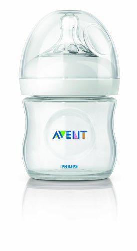 Philips AVENT BPA Free Natural Polypropylene Bottle, 4 Ounce, 1 Pack