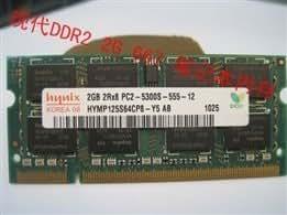 Hynix modern Hynix 2G DDR2 667 PC2-5300S 2GB laptop memory and a 800