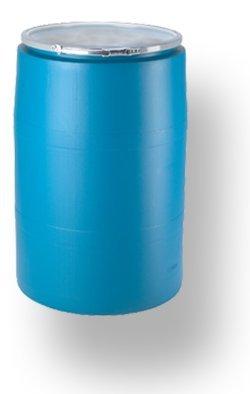 Plain Lid - 55 Gal Plastic Drum - Open-Top, Lever Lock Ring, w/Plain Lid