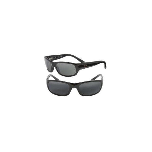 Maui Jim Stingray Sunglasses   Polarized Gloss Black/Gray, One Size