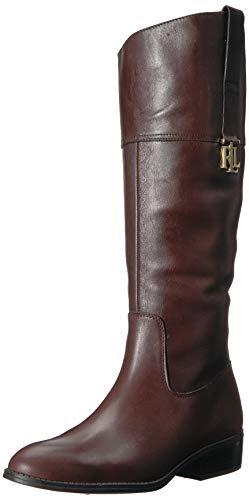 Lauren Ralph Lauren Women's Merrie Fashion Boot, Brown, 8 B US