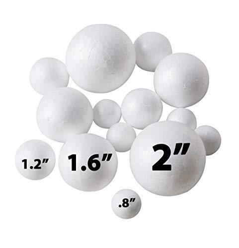 Foam Balls Craft (240 Pack Styrofoam Balls -Craft Foam Balls -Foam Craft Balls -Foam Balls For Arts and Crafts, DIY Craft For Home, School Craft Project -240 Bulk Styrofoam Balls, 4 sizes .8'',)