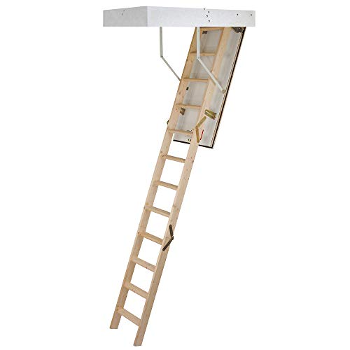 TB Davies 1530-000 Eurofold 3-SectIon Wooden Loft Ladder