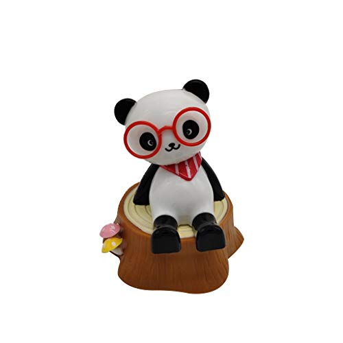 Luonita Solar Powered Dancing Figures Toy Cute Bear Swinging Decoration for Car Windowsill,Shaking Head, Animated Toy, Dancing Swinging Toy Gift for Kids Child Friend Birthday 1/6 Pack (B)