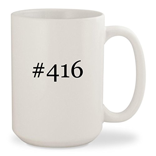 #416 - White Hashtag 15oz Ceramic Coffee Mug Cup