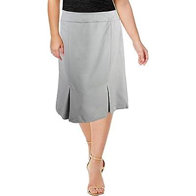 Le Suit Womens Plus Zig Zag Office Pencil Skirt