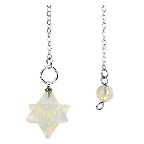 - JOVIVI Opalite Merkaba Star Healing Crystal Pendulum Reiki Chakra Pendant