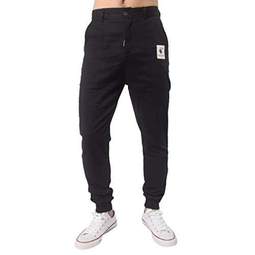 online store 7791d c8e43 Negro Deportivos color Para Size Cómodos Ropa 31 Fashion Hombres Pantalones  Saoye Holgados 6Zqwzv8wY