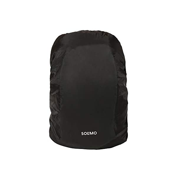 31AFBVfe8vL Amazon Brand - Solimo Rain & Dust Cover for Backpack (30 litres, Black)