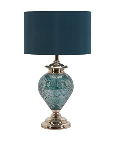Deco 79 Madie Table Lamp, Blue Silver