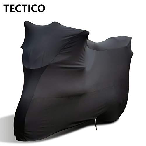 TECTICO Indoor Motorhoes Elastisch Ademend Zacht Stofdicht Stretch XL XXL Bescherming voor Binnen Garage Motorshow…