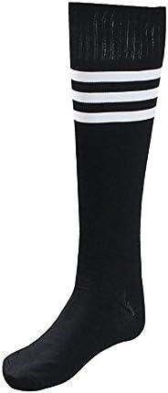 Unisex Athletic High Knee Stripes Sports Running Football Soccer Tube Socks Sock