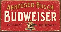 Budweiser Beer Weathered Distressed Retro Vintage Tin Sign