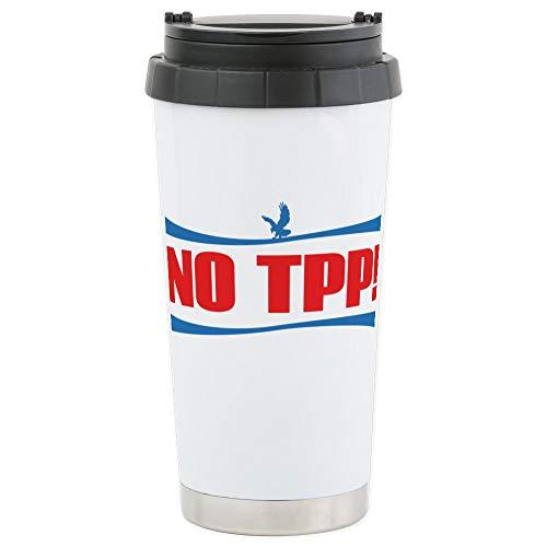 CafePress NO TPP! Stainless Steel Travel Mug Stainless Steel Travel Mug, Insulated 16 oz. Coffee ()
