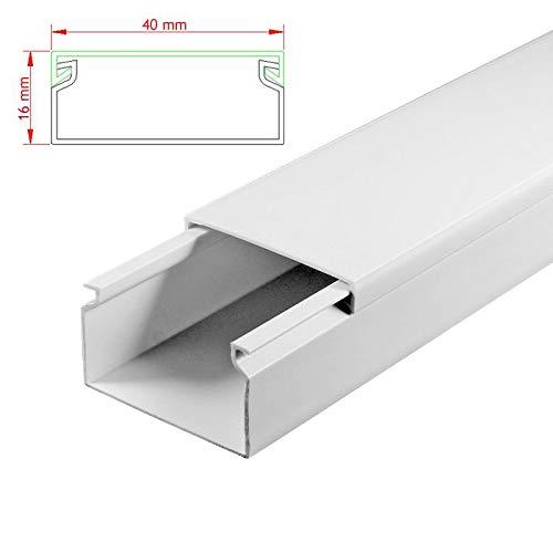 SCOS Smartcosat AVC-293 15m Kabelkanal Weiß zum verschrauben 15x 100cm 100cm 100cm 40x16mm Deckenkanal Besteehend aus Unterteil und Oberteil zur Montage direkt auf der Wand B07NLMSMLD Kabelkanle für Wandleisten Qualität af5299