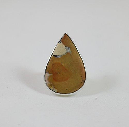 Coconut Jasper Sterling Silver Adjustable - Sterling Ring Jasper Adjustable Silver