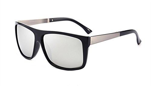 Hombre Silver Driving Fashion Blue Sunglasses Material MYLEDI PC Polarized 7qaYpY