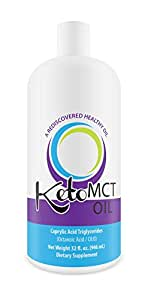 KetoMCT Premium C8 Caprylic Acid MCT oil, manufactured in USA, 32 oz, The Most Potent on the Market