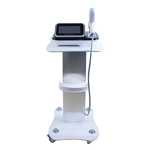 ERRU- White Beauty Equipment Rolling Cart Hair Medical Spa Styling Pedestal Tool Trolley Aluminum Service Cart, Load 70kg