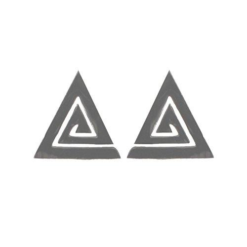 Boucles d'Oreilles en Acier - Triangle 10 mm - Argenté