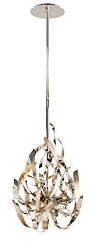 Corbett Lighting 154-43 Graffiti Pendant, Pwt, Nckl, B/S, Slvr.