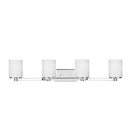 Sea Gull Lighting 4439104-05 Hettinger Four Light Wall Bath Vanity Style Lights, Chrome Finish