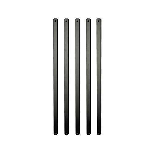 Cheap  29.5 in. x 1 in. x .19 in. Black Aluminum Flat Baluster..