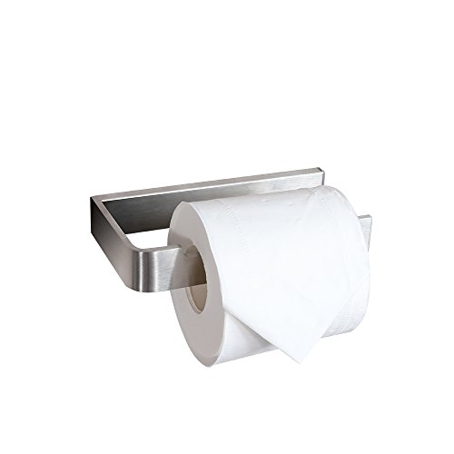 CRW Toilet Paper Holder Brushed Nickle Bathroom Tissue Roll Hanger Stainless Steel Wall Mounted
