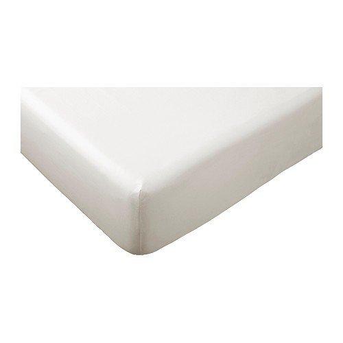 Ikea sömntuta sábana bajera en color blanco; 100% algodón; (180 x 200 cm): Amazon.es: Hogar