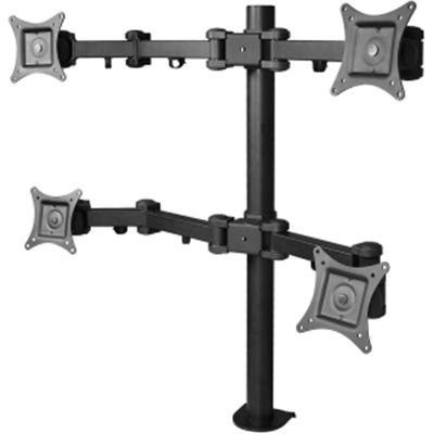 """SIIG Articulating Adjustable Quad 4-Monitor Desk Mount - Fits 13"""" to 27"""" Monitors - (CE-MT0S12-S1) from SIIG"""