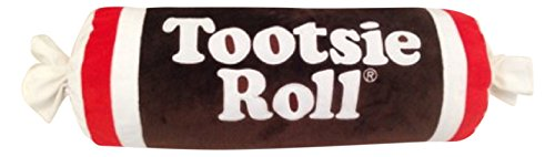 (Sweet Novelty Tootsie Roll 16 x 6 Cylinder Candy Wrapper Embroidered Plush Pillow)