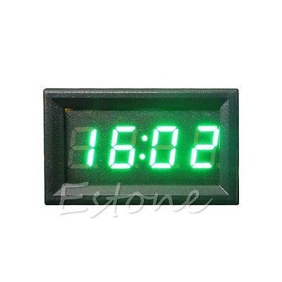 FidgetFidget Dashboard Digital Car Motorcycle Accessory 12V//24V Clock LED Display Green