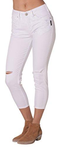 Silver Jeans Women's Suki High Rise Super Stretch Capri J...