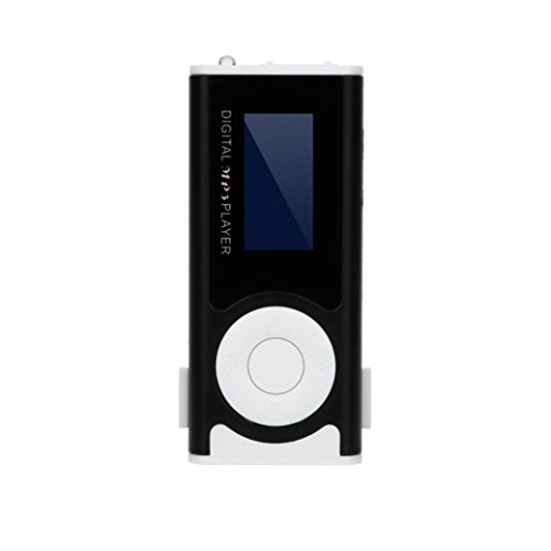 MP3 Player, Jiayit 32GB Music Player USB Mini MP3 Player Clip LCD Screen Support Micro SD TF Card for Sport and Music Lovers (Black)