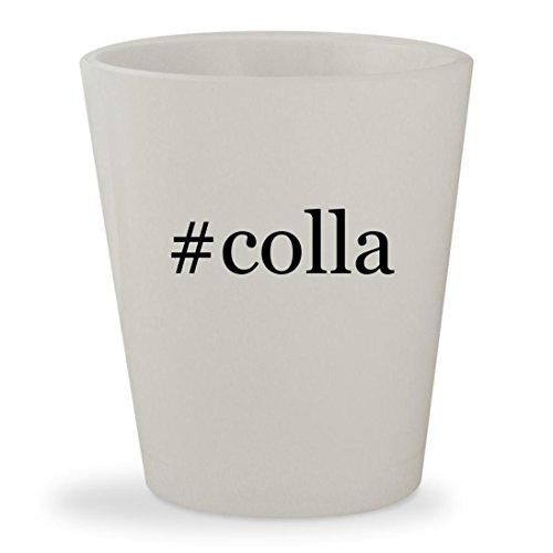 #colla - White Hashtag Ceramic 1.5oz Shot Glass