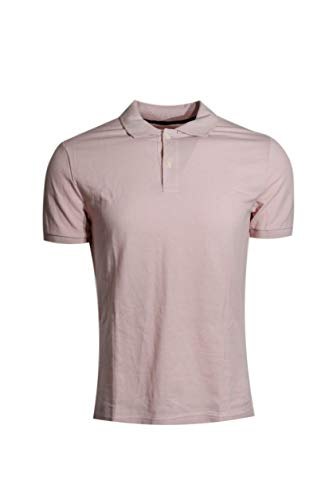 - GAP Men's Solid Color Polo Shirts (M, Light Pink)